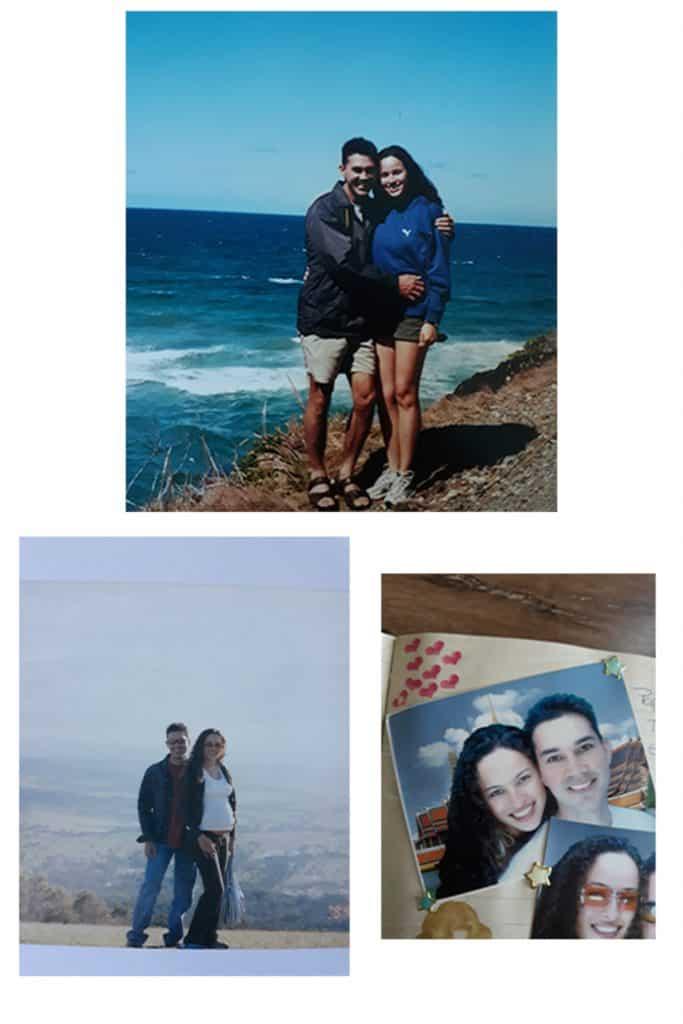 pareja al lado del mar