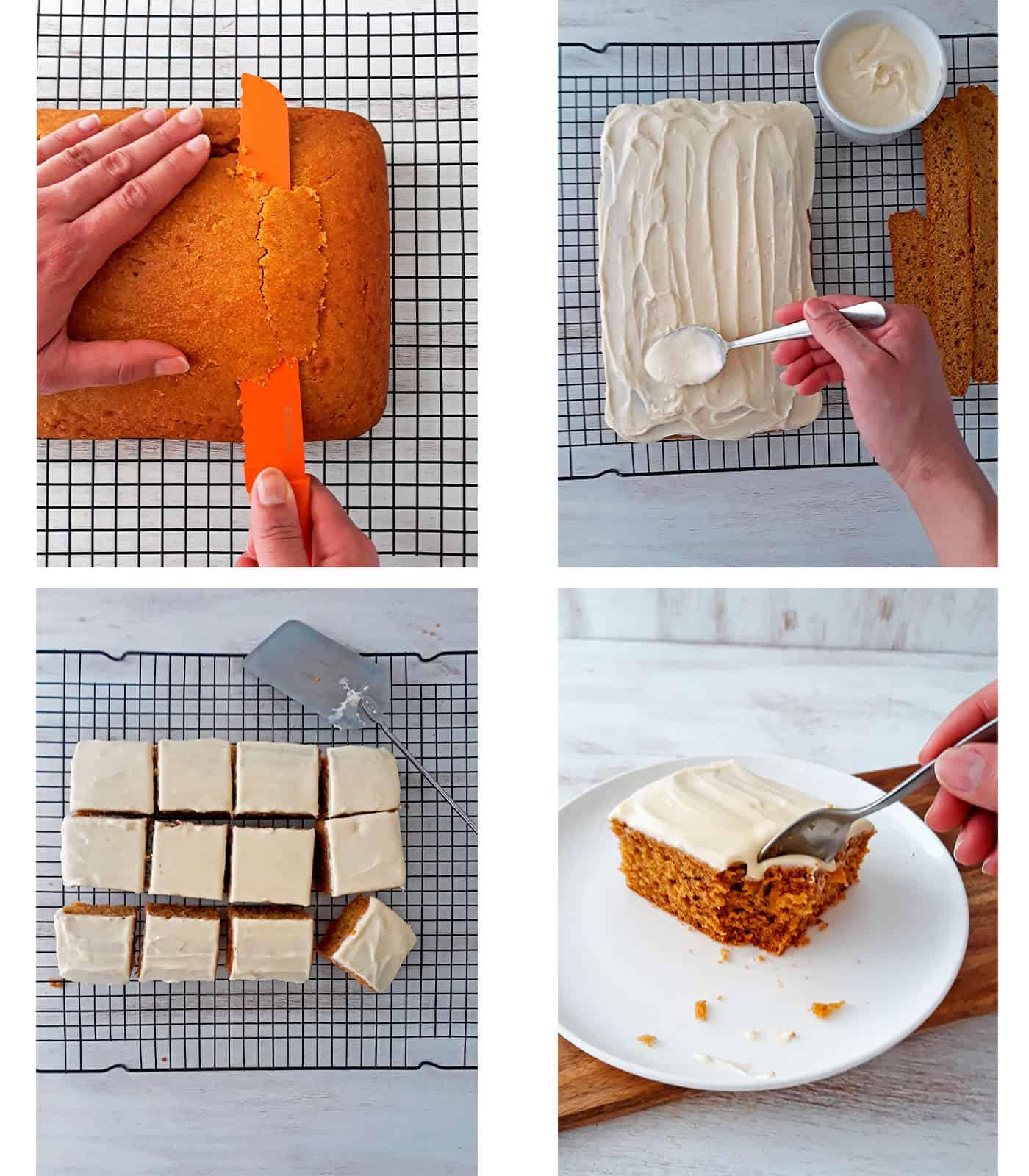 como decorar una torta con glaseado de queso crema
