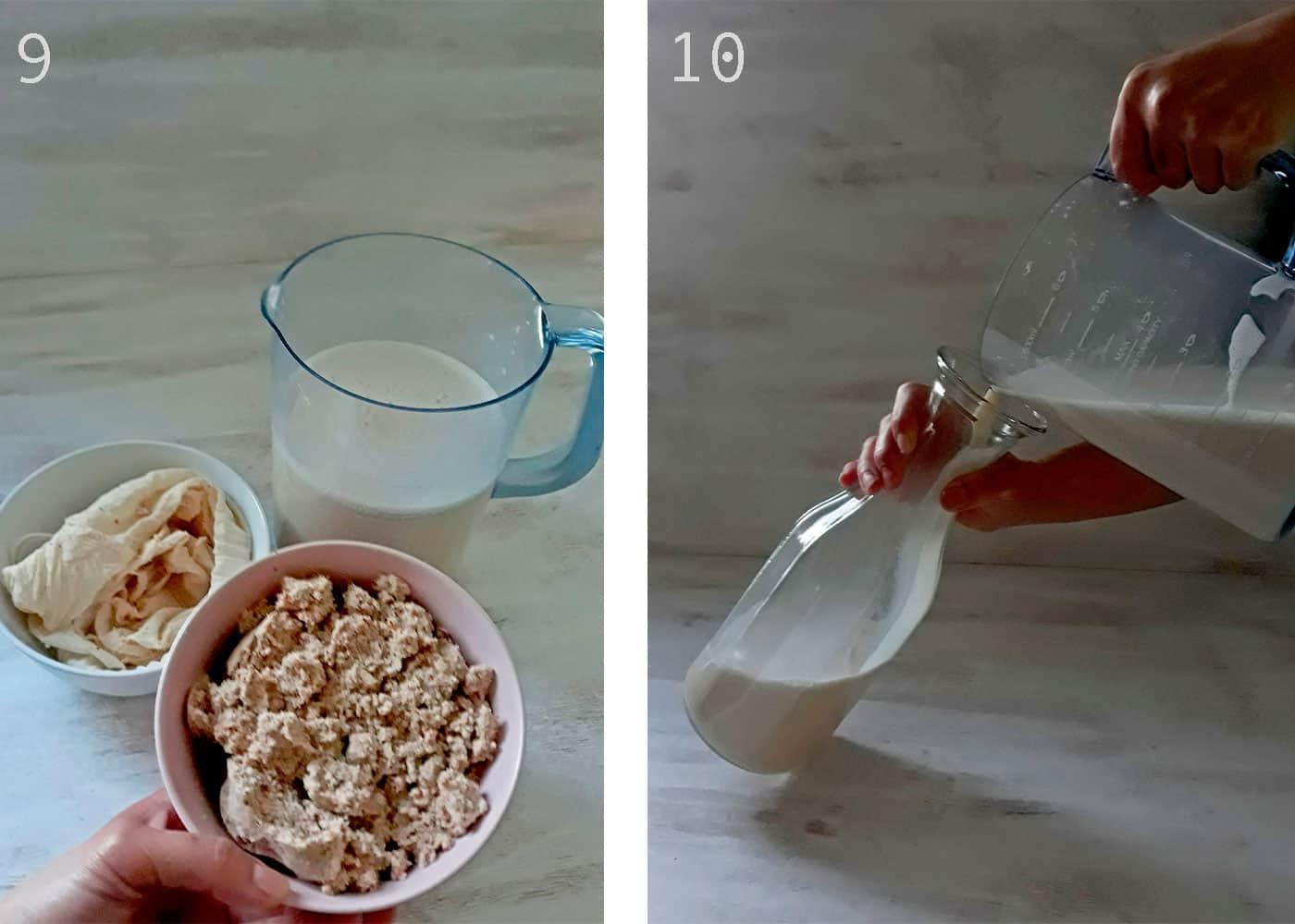 harina de almendras y leche de almendras
