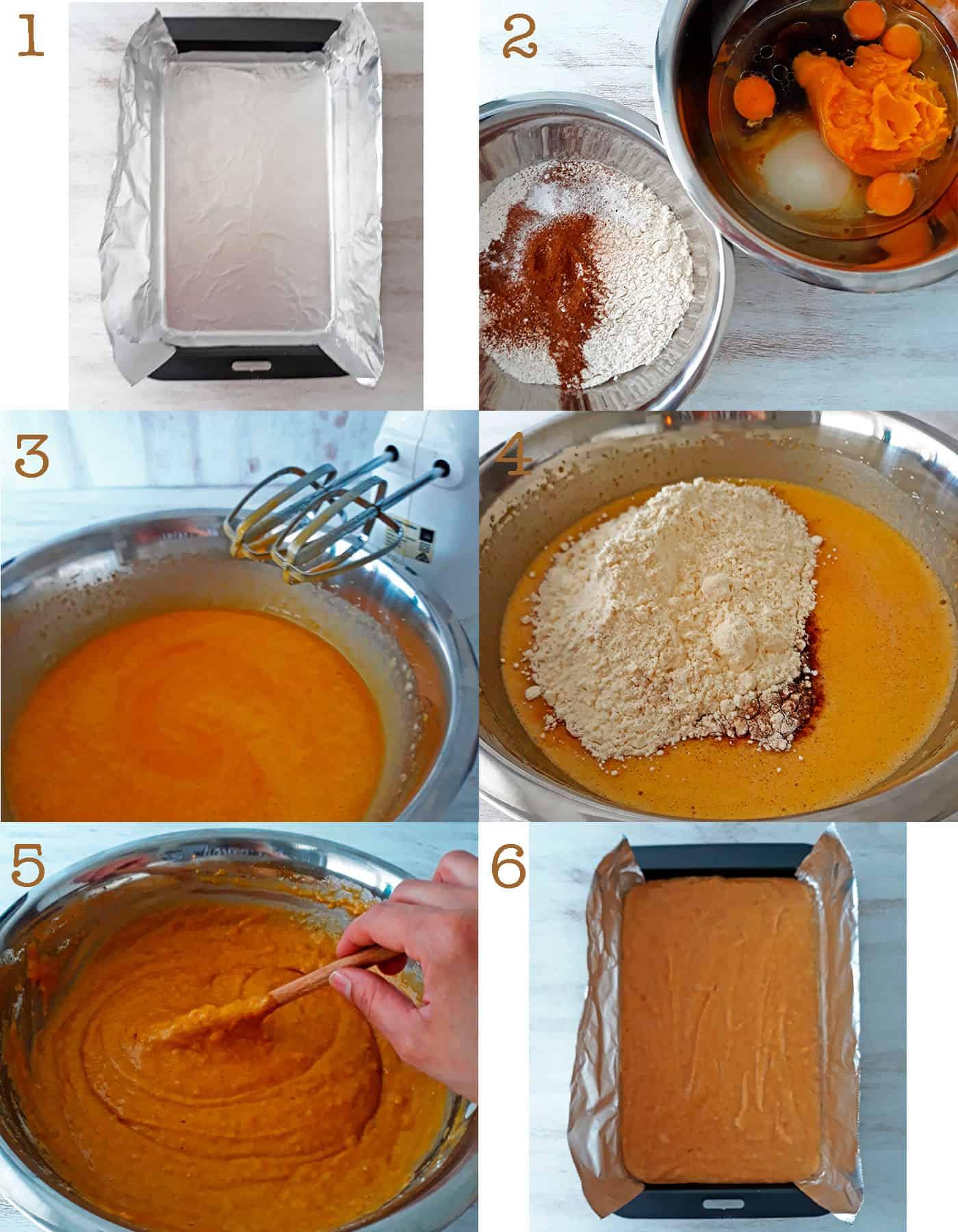 como hacer torta de calabaza paso a paso
