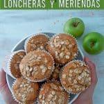 muffins de manzana servidos en un bol
