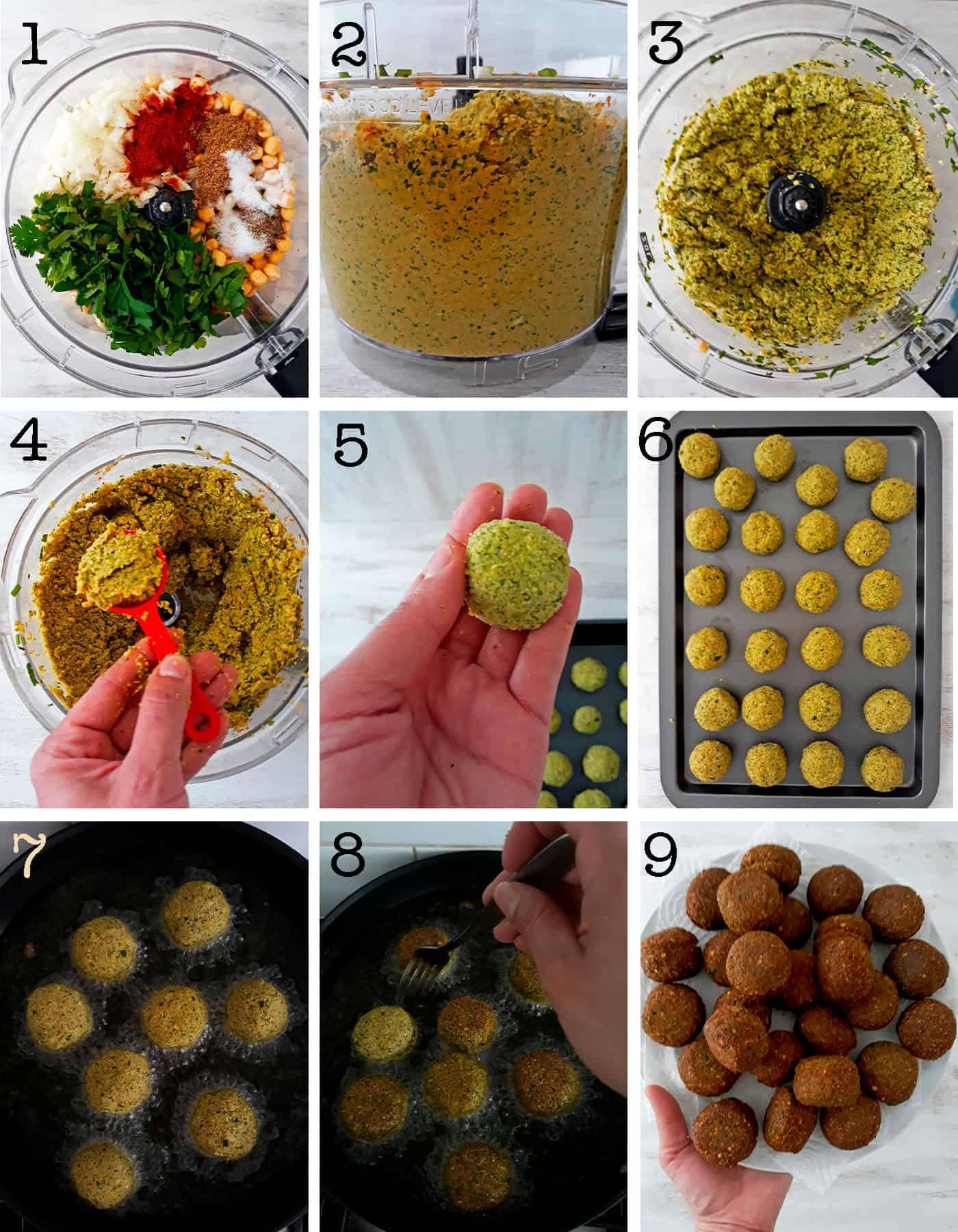 paso a paso para preparar falafels o croquetas de garbanzos