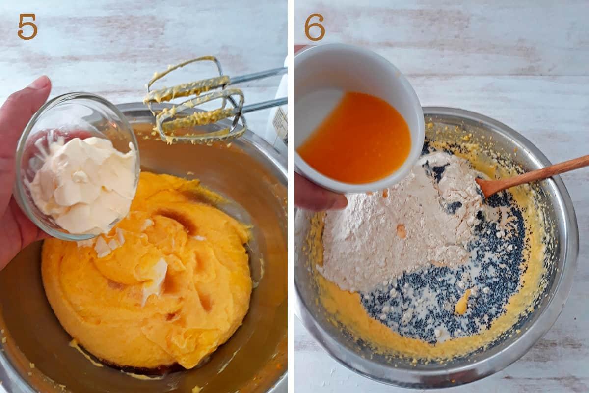 mantequilla y semillas de amapola