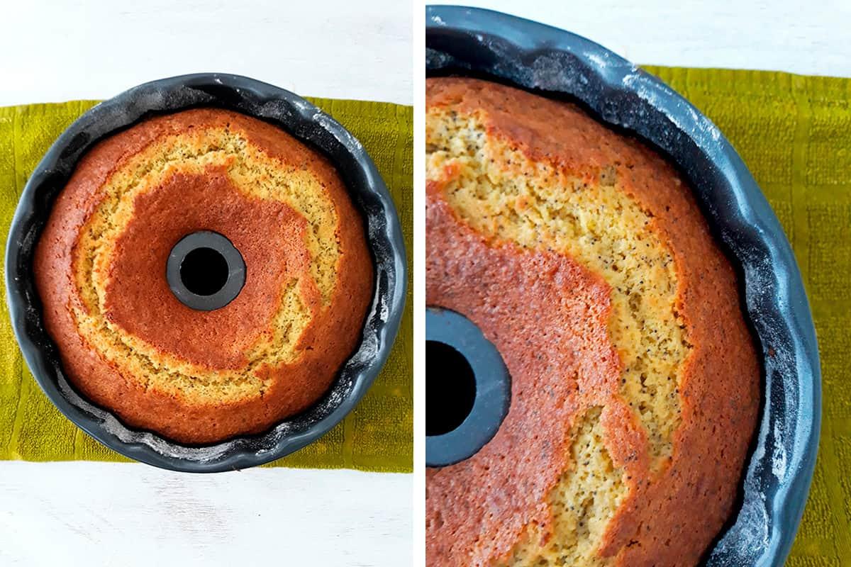 torta de nanja en molde bundt