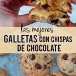 galletas con chispas de chocolate en la mano