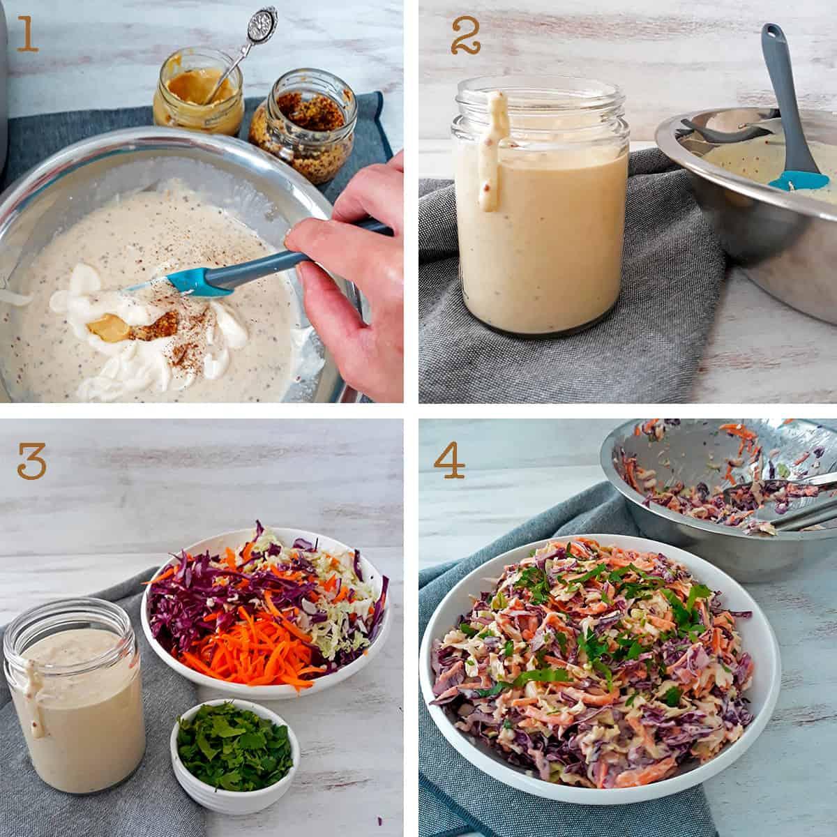 como hacer ensalad coleslaw paso  a paso