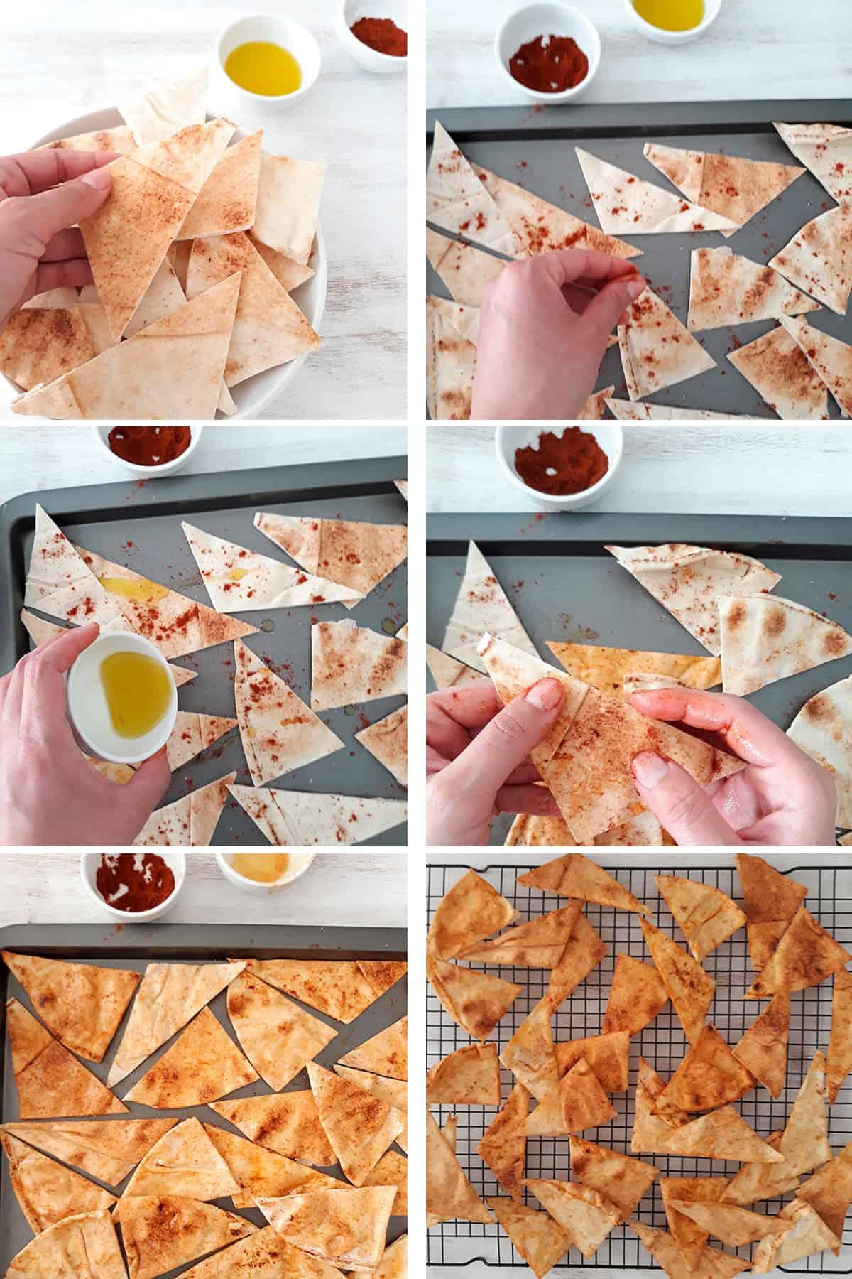 como preparar chips de pita paso a paso