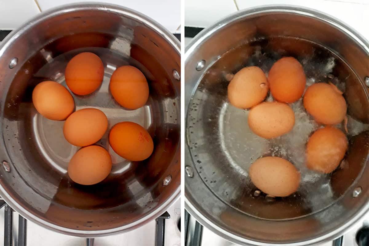 como cocer un huevo duro perfecto paso a paso