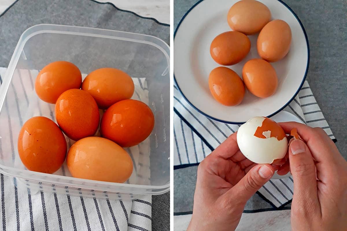 como pelar huevos duros