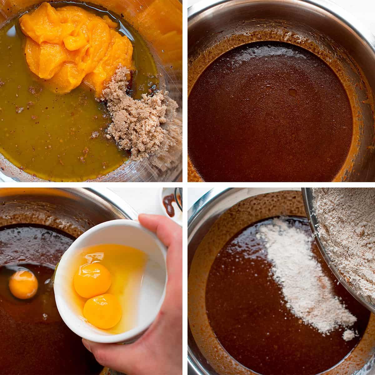 procedimento para preparar brownies