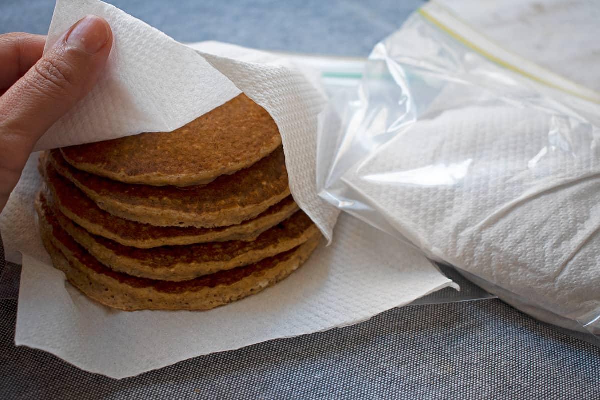 como refrigerar y congelar pancakes