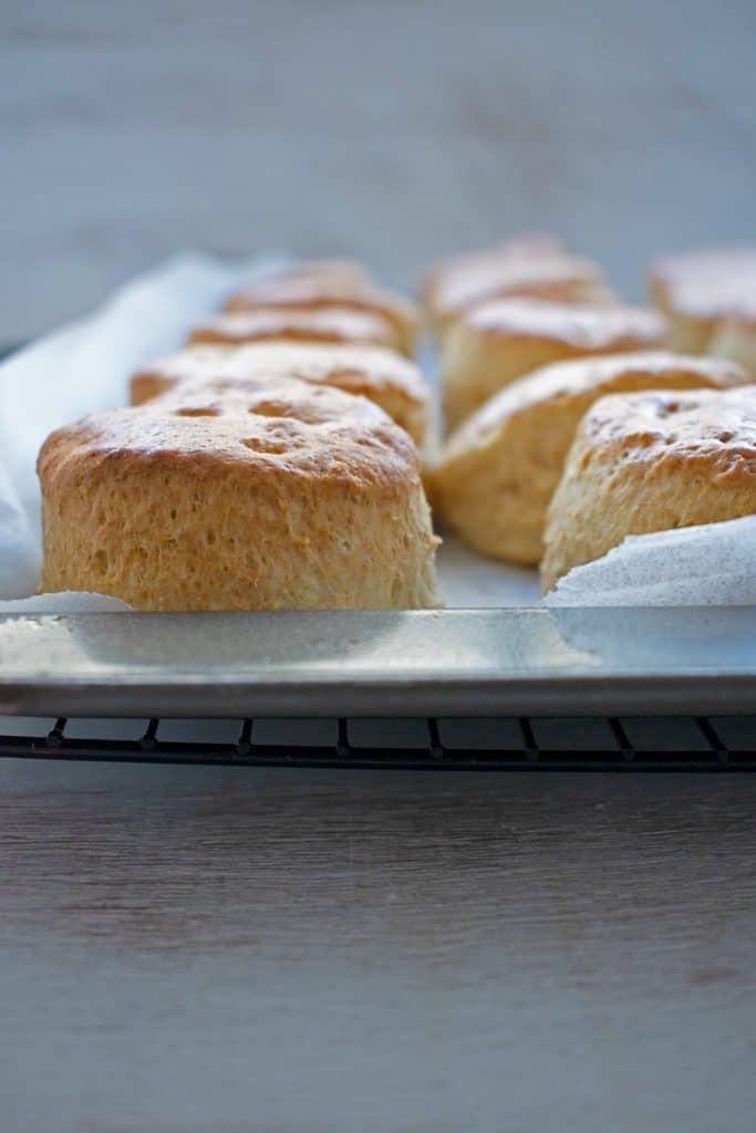 deliciosa receta clásica de scones acabados de salir del horno