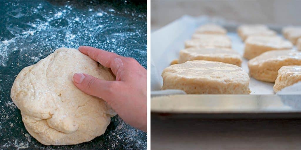 preparando scones para llevar al horno