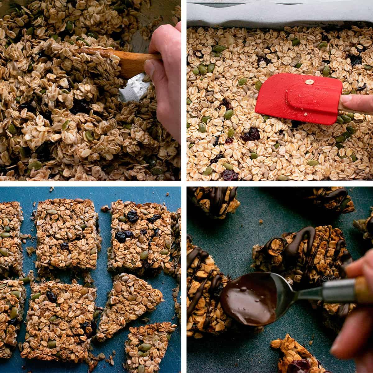proceso para preparar barritas de avana