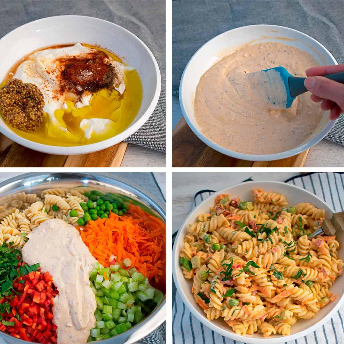 como preparar aderezo de yogur griego para una ensalada