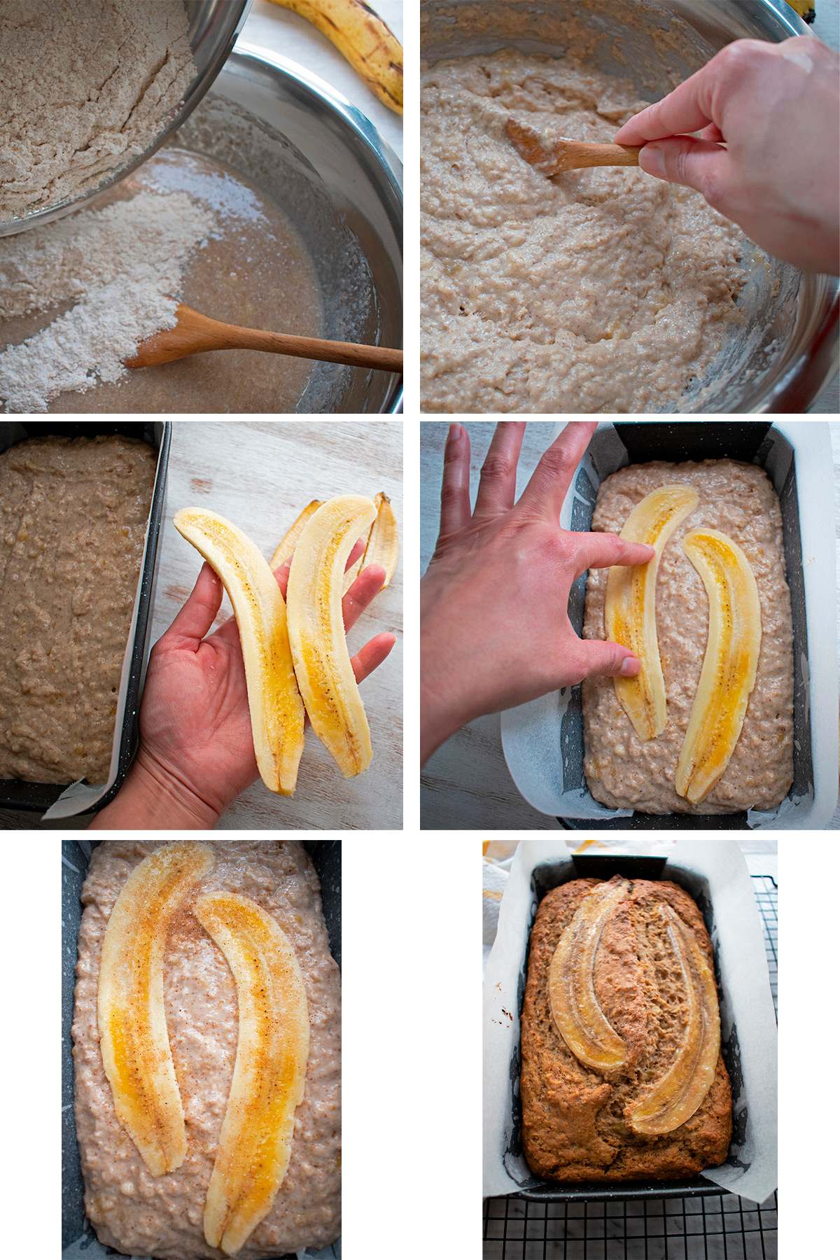 cómo hacer un pan de banana vegano paso a paso.