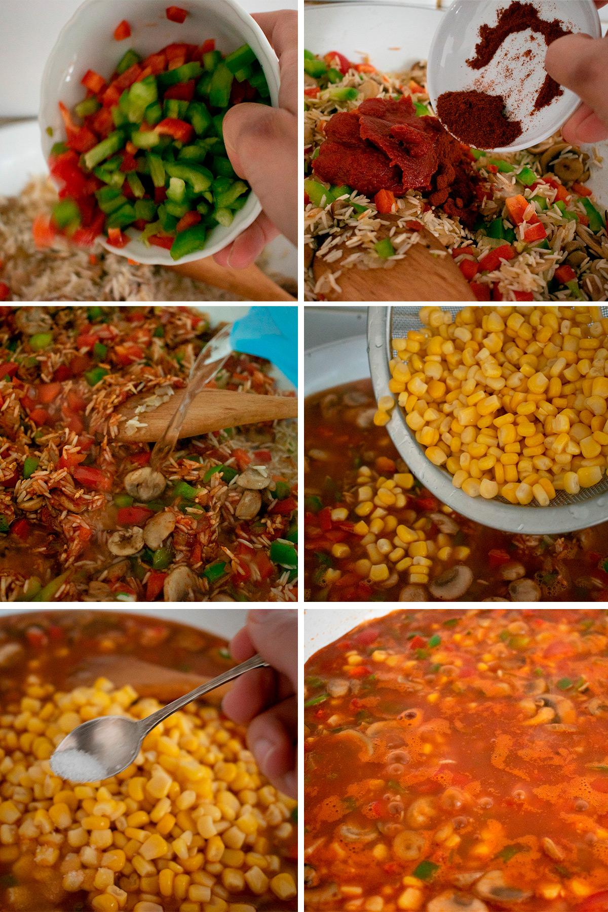 receta de arroz pilaf con verduras con fotos paso a paso