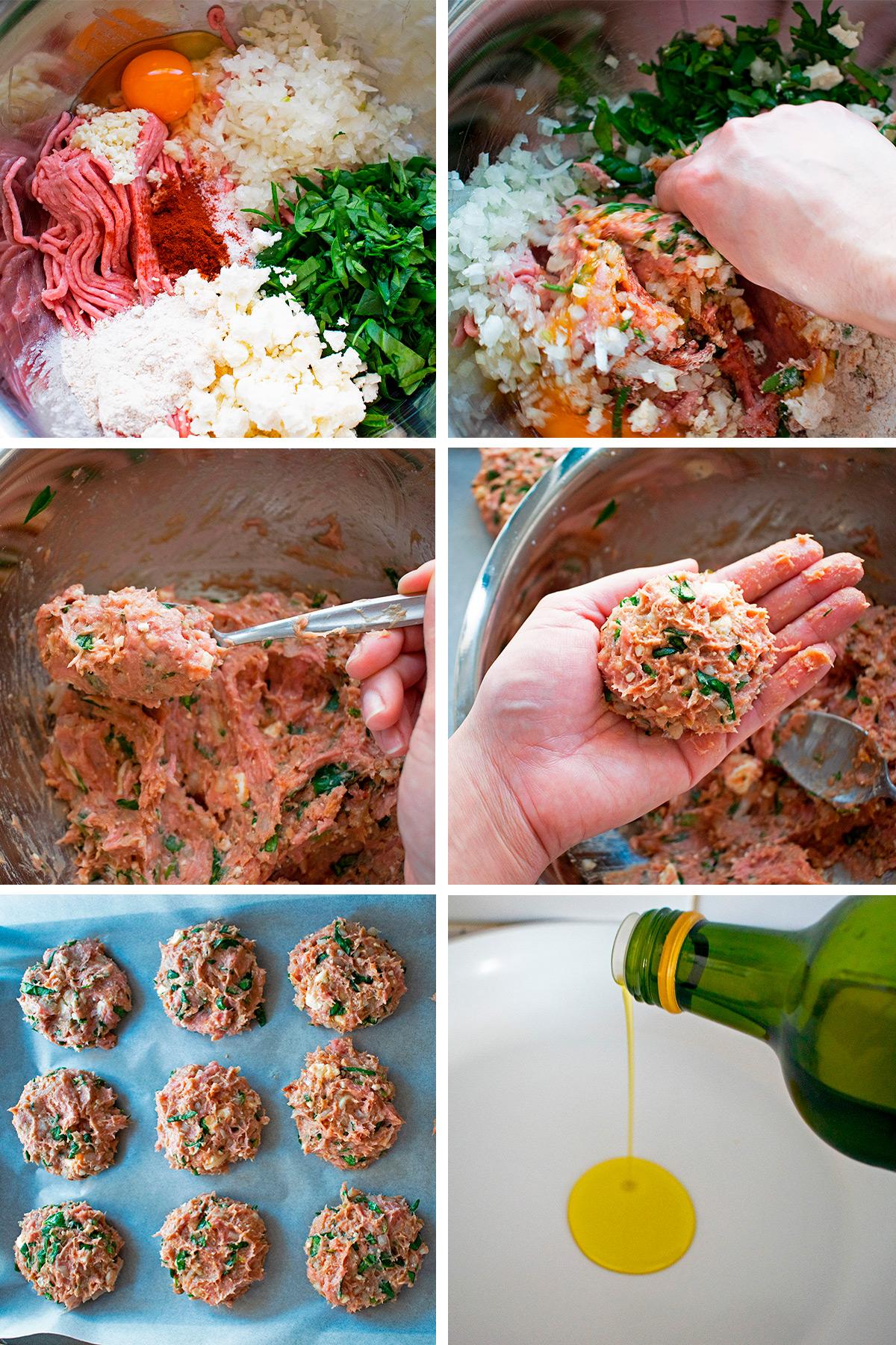 hamburguesas de pavo y espinacas receta paso a paso