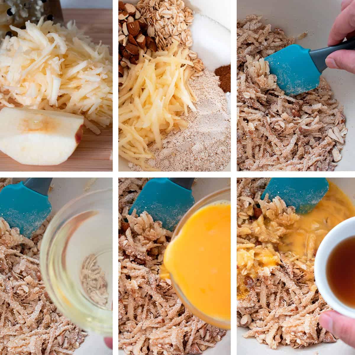 receta paso a paso para preparar barritas de avena y almendras con manzana y arándanos