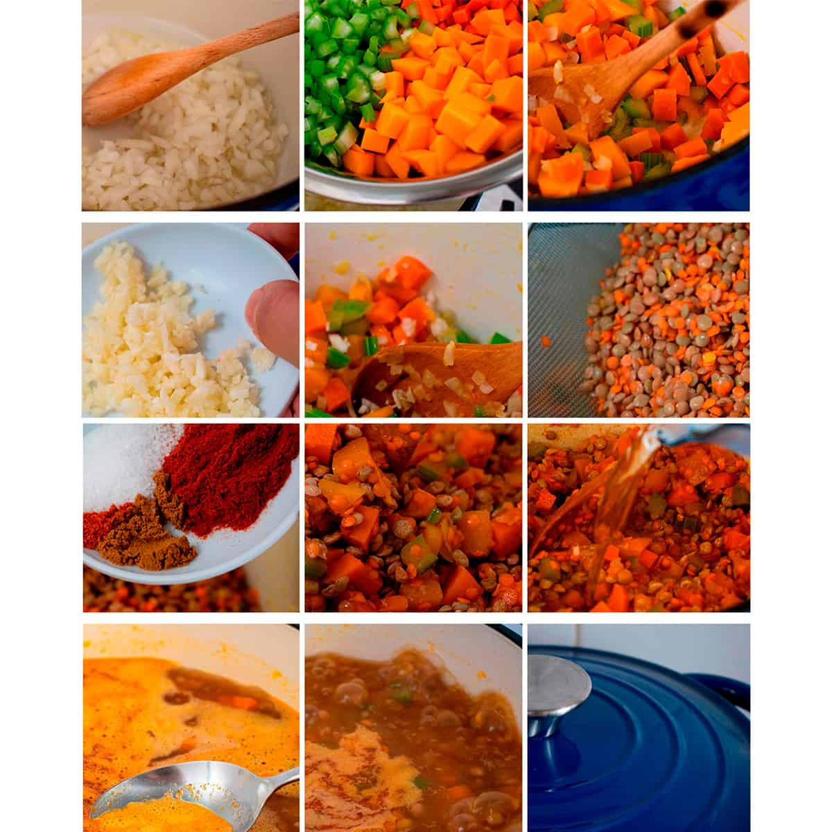 receta paso a paso para preparar sopa de lentejas casera