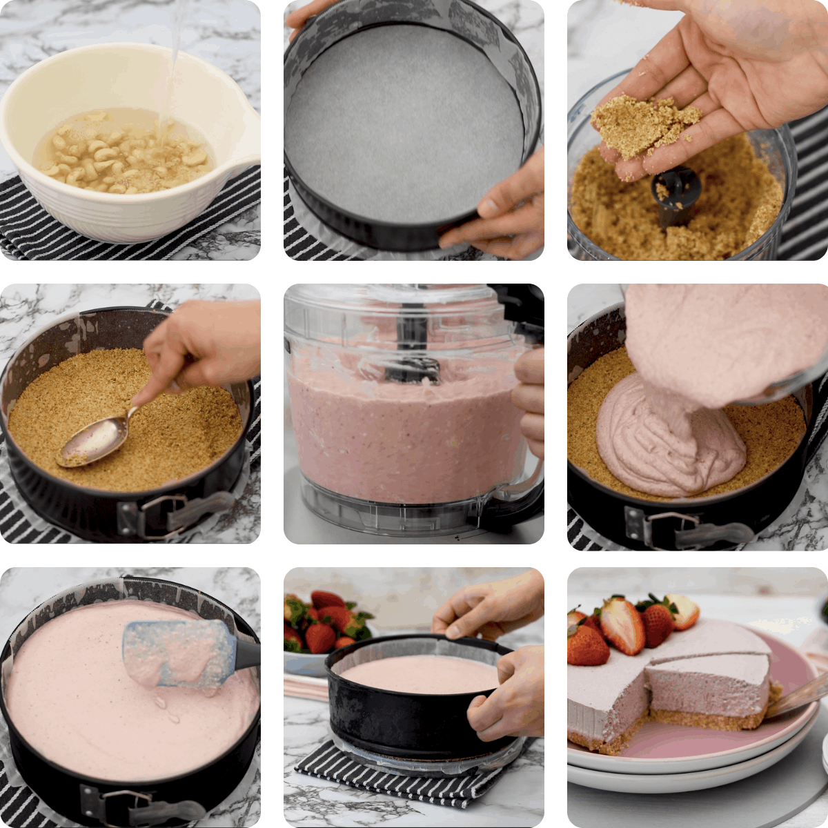 Receta paso a paso para preparar tarta de queso vegano sin horno